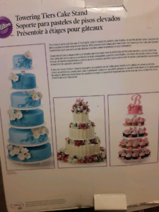 Wilton towering tiers cake stand for rent