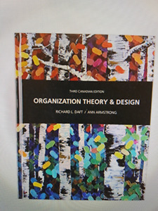 Wanted:Organization theory & Design textbook