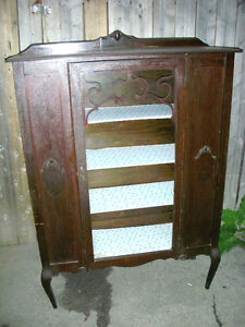 Antique CABINET China Cabinet Display Cabinet Shabby Chic