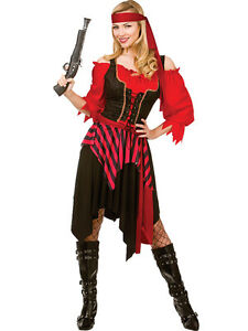 Adult-Shipwrecked-Pirate-Outfit-Fancy-Dress-Costume-Caribbean-Wench-Ladies
