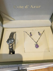 Cote d'Azur Jewelry/ Watch Set (never worn)