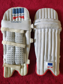 Youth cricket pads and gloves