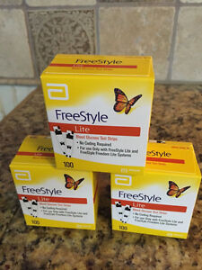 Abbott Freestyle Lite glucose test strips  100ct