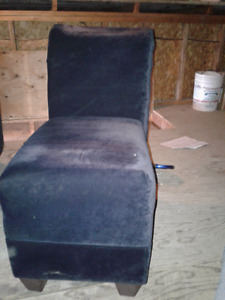 Black suede chairs