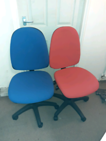 Red / blue office chairs £10 each