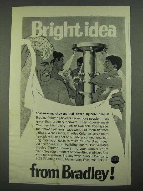 1968 Bradley Column Showers Ad - Bright Idea