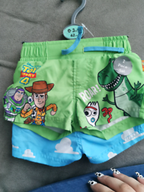 Toy story swim shorts 0 to 3 months