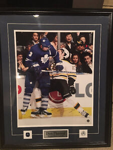 Dion Phaneuf Signed picture in Frame