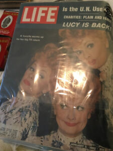 LUCILLE BALL - LUCY IS BACK LIFE MAGAZINE 1962 EDITION
