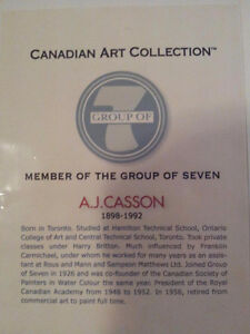 """A.J. Casson Limited Edition """"Autumn on the York River"""" Kitchener / Waterloo Kitchener Area image 6"""