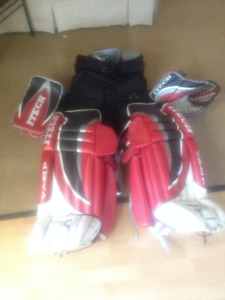 equipement gardien de but hockey gants jambiere itech culotte