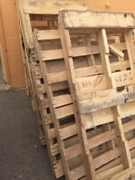 Free pallets for firewood or crafts.