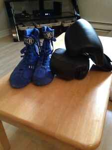 Boxing shoes and gloves for sale