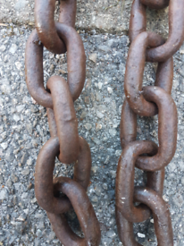 Chain mooring 13mm thick links 3.1M long