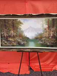 Estate Sale Large Signed Oil Painting