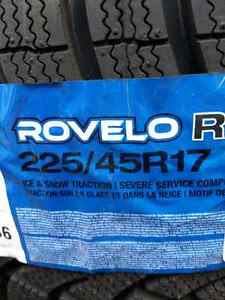 NEW 225/45/R17 ROVELO WINTER SNOW TIRES