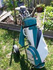 Women's Golf Clubs, Bag and Push Cart Cambridge Kitchener Area image 1