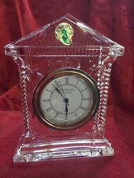 FLAWLESS Exquisite Ireland WATERFORD Art Glass ACROPOLIS Crystal Large CLOCK