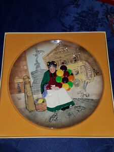1979 Royal Doulton - The Old Balloon Seller - Character Plate