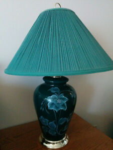 Set of 2 green table lamps Edmonton Edmonton Area image 1