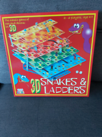 3D snakes & Ladders Board Game.