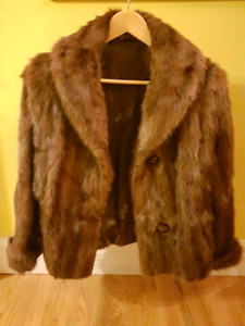Two Fur Jackets and Two Brand New Leather Jackets  (SPCA)
