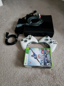 Xbox 360 (4GB) with two controllers and games $100 ono