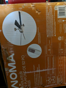NOMA 52 INCH REMOTE CONTROL CEILING FAN NEW IN BOX