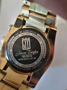 JT Invicta mens gold watch