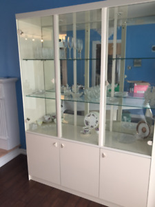 GLASS CABINET - MADE IN ITALY -LIKE NEW - ONLY $175