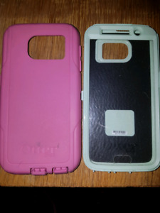 Pink OtterBox case for Samsung Galaxy S6