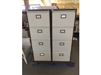 6 identical 4 drawer filing cabinets
