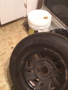 ***summer tires for sale almost new r15 with rims****