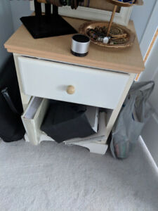 Chic Wooden Chest of drawers + side table