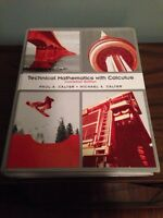 Technical Mathematics with Calculus Textbook **NEW PRICE**