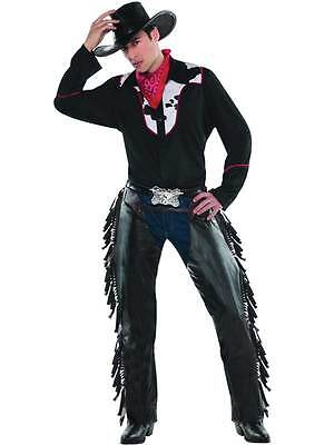 Cowboy Fancy Dress Costume Adult Mens Outlaw Pete Outfit Western Bandana Chaps