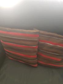 2 Chocolate Brown Cushions