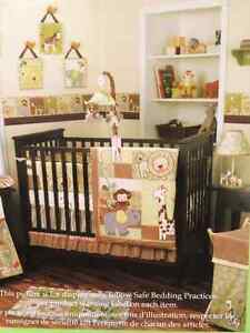 Crib Bedding Set (4 piece) and Musical Mobile