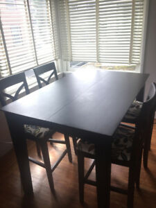 Adjustable dining table and chairs