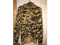 Bape original camo shark hoodie jacket bathing ape not supreme