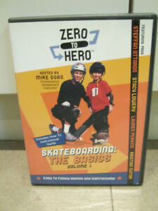 Skateboarding DVD Zero to Hero w/ Mike Ogas w/ Tony Hawkes Bonus