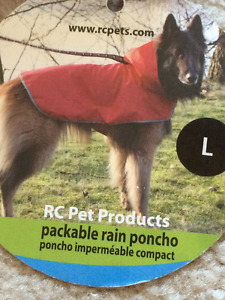 RC Pet Products Packable Rain Poncho New with Tag