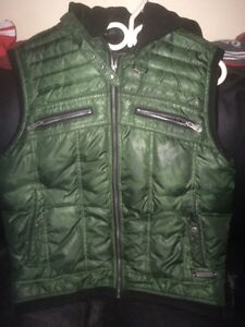 $30!! authentic GUESS vest with hoodie Kitchener / Waterloo Kitchener Area image 1
