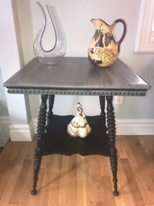 Refinished Cane Table