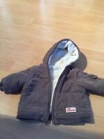 Winter coat & hat for 6 month old