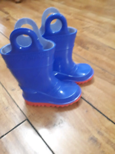 Toddler boys rubber boots