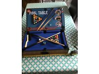 Boxed Tabletop pool table.