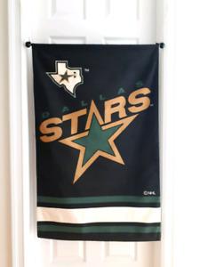 New Big NHL DALLAS STARS Playoff Hockey Wall Banner Flag.