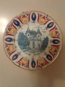 Hand decorated porcelain plates from Europe vintage