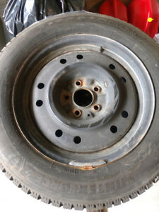 For Sale - Firestone 215/60R 16in. Winter tires and rims